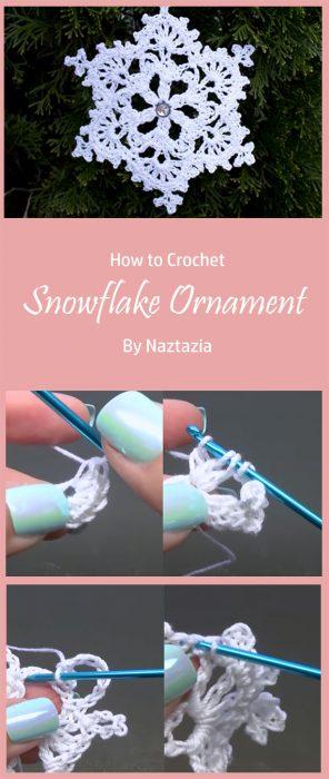 Snowflake Ornament By Naztazia