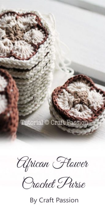 African Flower Crochet Purse By Craft Passion