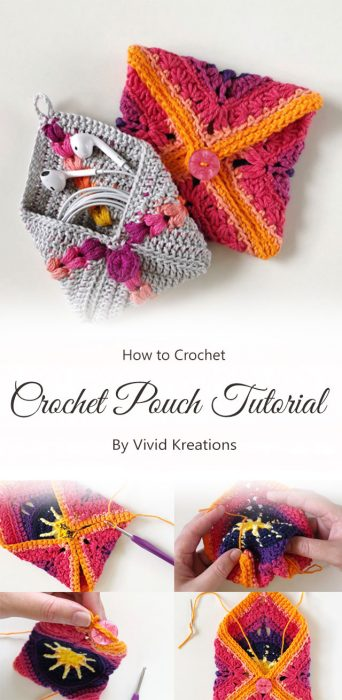 Crochet Pouch Tutorial By Vivid Kreations