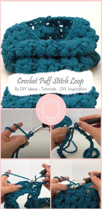 Crochet Puff Stitch Loop By DIY Ideas - Tutorials - DIY Inspiration