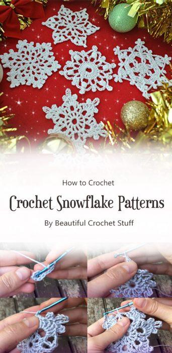 Crochet Snowflake Patterns By Beautiful Crochet Stuff