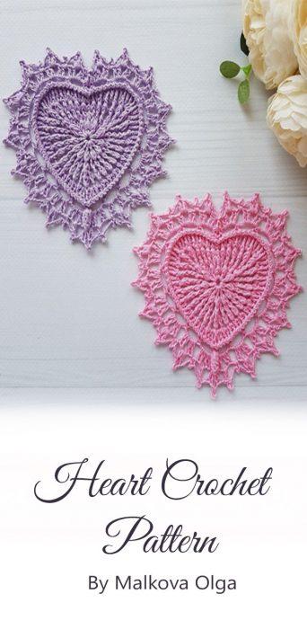 Heart Crochet By Malkova Olga