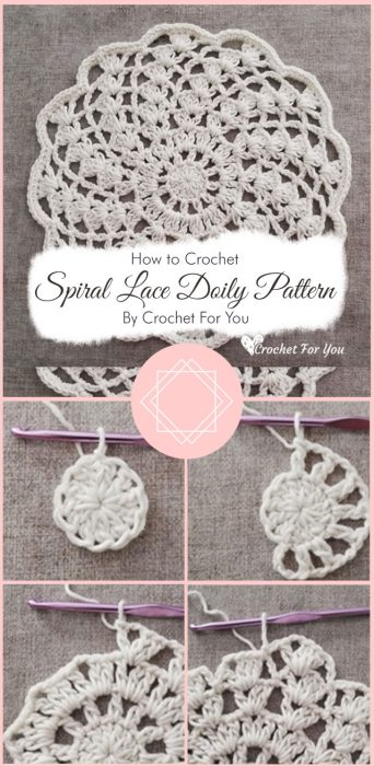 Spiral Lace Doily Pattern By Crochet For You