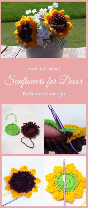 Sunflowers for Decor By Redmittendesign