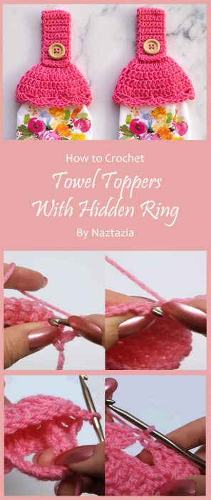 Towel Toppers with Hidden Ring By Naztazia