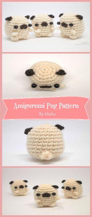 Amigurumi Pug Crochet Pattern By Mohu
