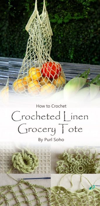 Crocheted Linen Grocery Tote By Purl Soho