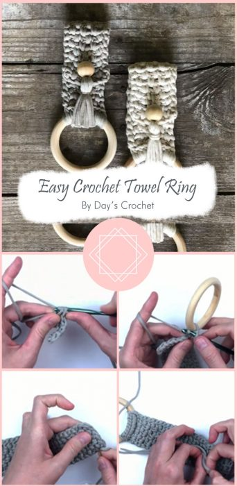 Easy Crochet Towel Ring By Day's Crochet