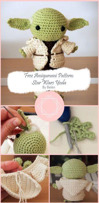 Free Amigurumi Pattern: Star Wars Yoda By Belén