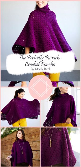 The Perfectly Panache Crochet Poncho By Marly Bird