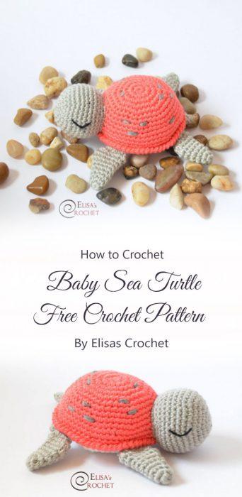 Baby Sea Turtle Free Crochet Pattern By Elisas Crochet