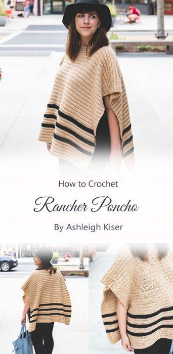 Crochet Rancher Poncho By Ashleigh Kiser