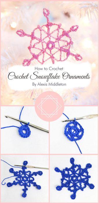 Crochet Snowflake Ornaments By Alexis Middleton