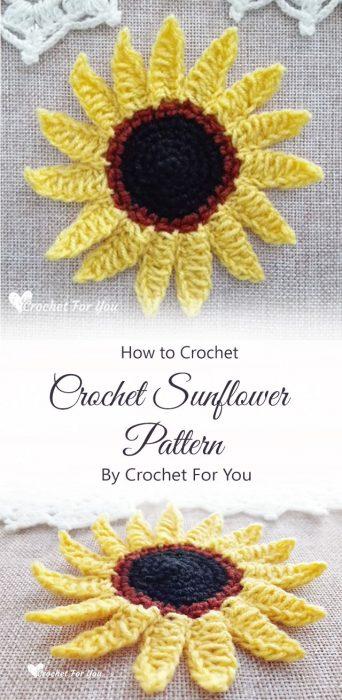 Crochet Sunflower Pattern By Crochet For You