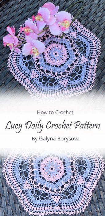 Lucy Doily Crochet Pattern By Galyna Borysova