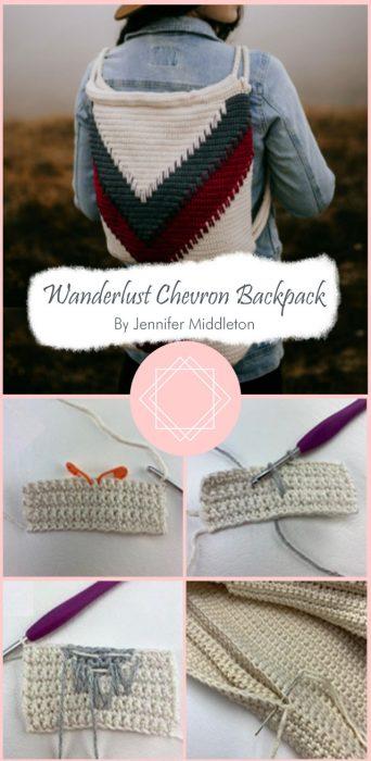Wanderlust Chevron Backpack By Jennifer Middleton