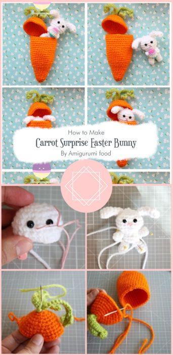 Carrot Surprise Easter Bunny Free Crochet Pattern By Amigurumi food