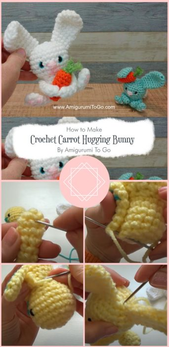 Crochet Carrot Hugging Bunny By Amigurumi To Go