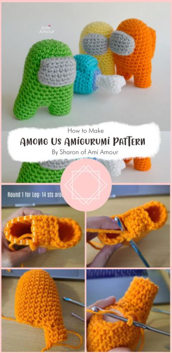 Among Us Amigurumi Pattern By Sharon of Ami Amour