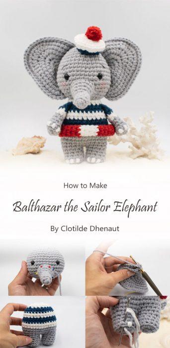 Balthazar the sailor elephant By Clotilde Dhenaut