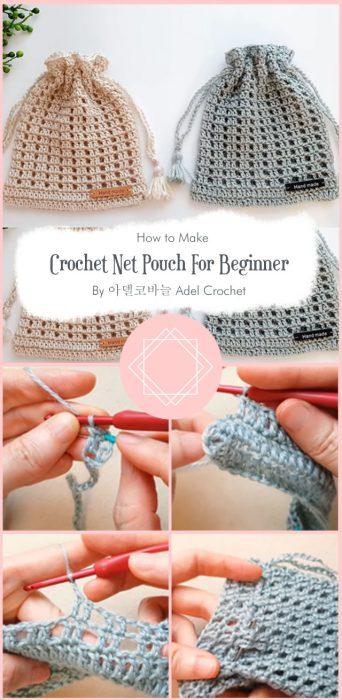 Crochet Net Pouch For Beginner By 아델코바늘 Adel Crochet