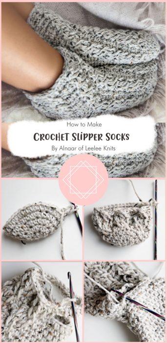 Crochet Slipper Socks By Alnaar of Leelee Knits