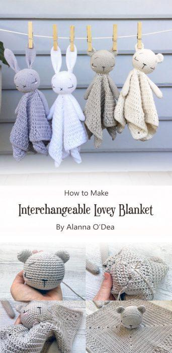 Interchangeable Lovey Blanket By Alanna O'Dea