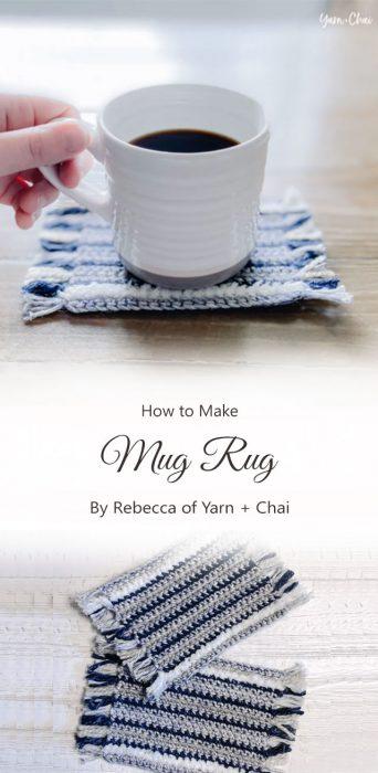 Mug Rug By Rebecca of Yarn + Chai