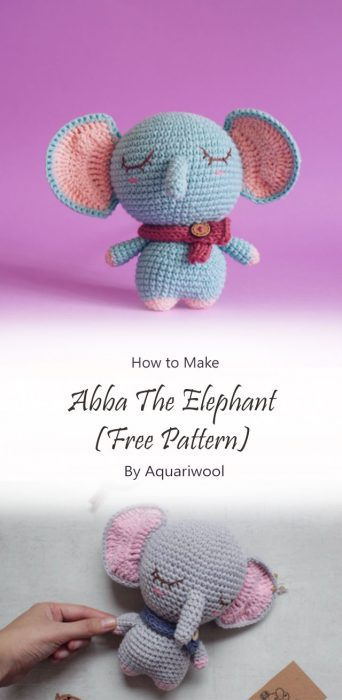 Abba The Elephant (Free Pattern) By Aquariwool