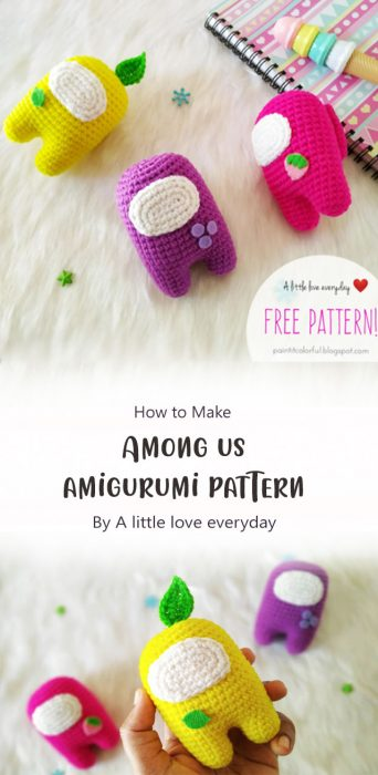 Among us amigurumi pattern By A little love everyday