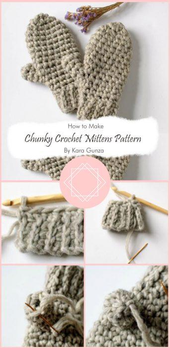 Chunky Crochet Mittens Pattern – Super Easy! By Kara Gunza