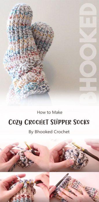 Cozy Crochet Slipper Socks By Bhooked Crochet