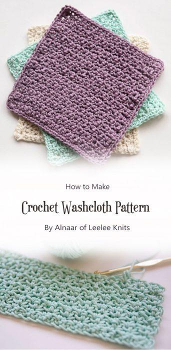 Crochet Washcloth Pattern By Alnaar of Leelee Knits