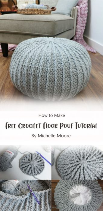 Free Crochet Floor Pouf Tutorial By Michelle Moore
