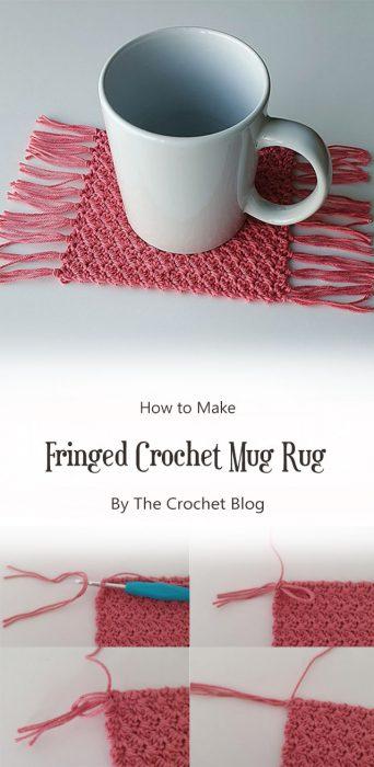 Fringed Crochet Mug Rug By The Crochet Blog