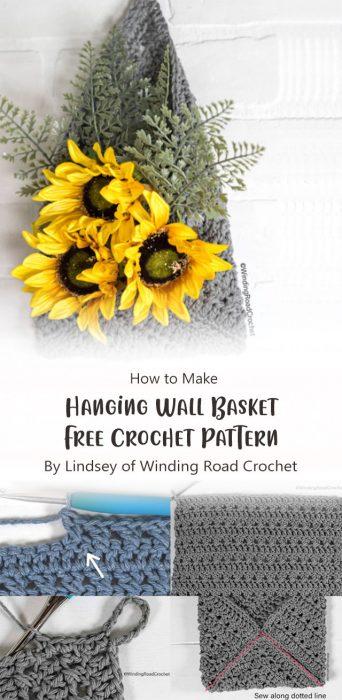 Hanging Wall Basket Free Crochet Pattern By Lindsey of Winding Road Crochet