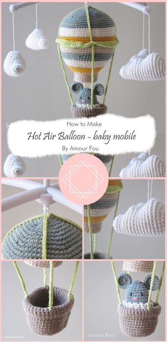 Hot Air Balloon - baby mobile By Amour Fou