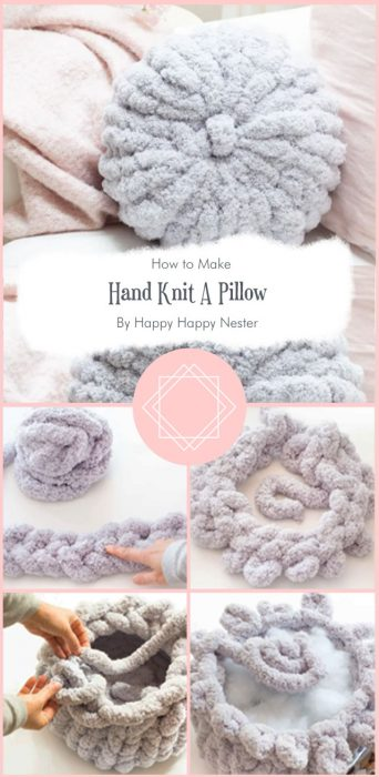 How To Hand Knit A Pillow By Happy Happy Nester