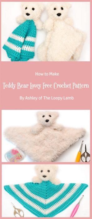 Teddy Bear Lovey Free Crochet Pattern By Ashley of The Loopy Lamb