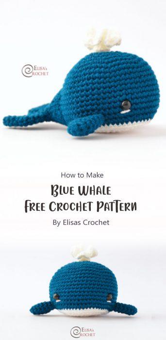 Blue Whale Free Crochet Pattern By Elisas Crochet