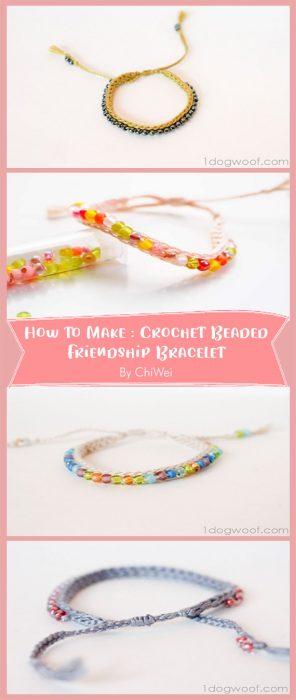 Crochet Beaded Friendship Bracelet By ChiWei