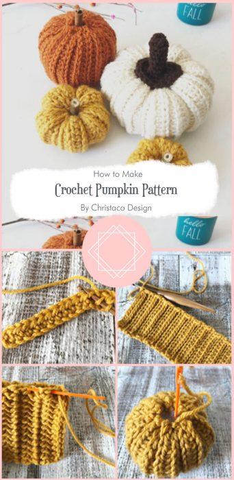 Crochet Pumpkin Pattern a Free Crochet Pattern By Christaco Design