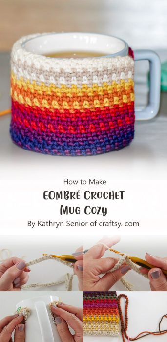 EOmbré Crochet Mug Cozy By Kathryn Senior of craftsy. com