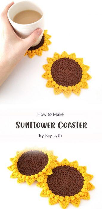 Sunflower Coaster By Fay Lyth