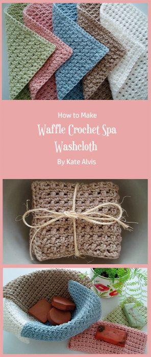 Waffle Crochet Spa Washcloth By Kate Alvis
