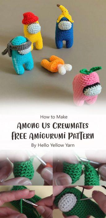 Among Us Crewmates FREE Amigurumi Pattern By Hello Yellow Yarn