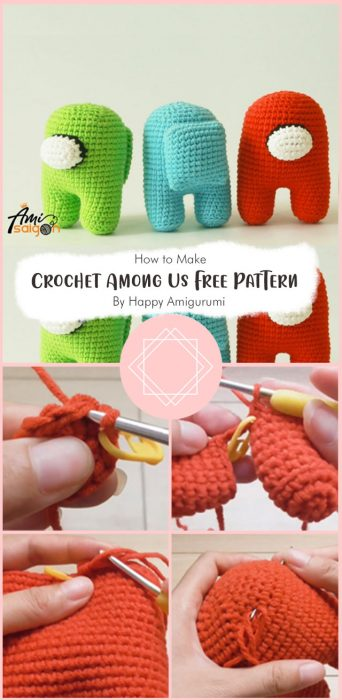 Crochet Among Us Free Pattern By Happy Amigurumi