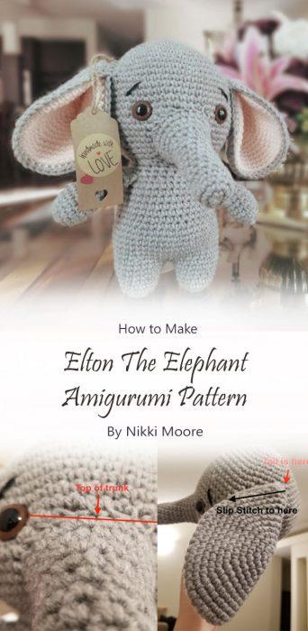 Elton The Elephant Amigurumi Pattern By Nikki Moore