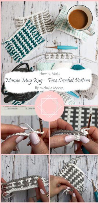 Mosaic Mug Rug – Free Crochet Pattern By Michelle Moore