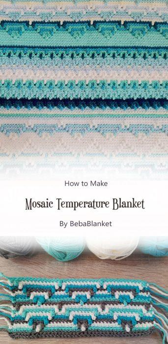 Mosaic Temperature Blanket By BebaBlanket